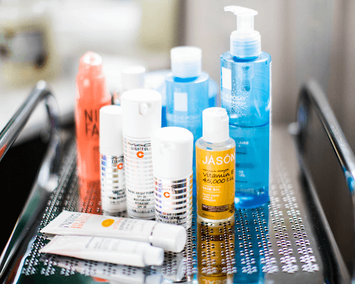 assorted beauty products (beauty supplies image)