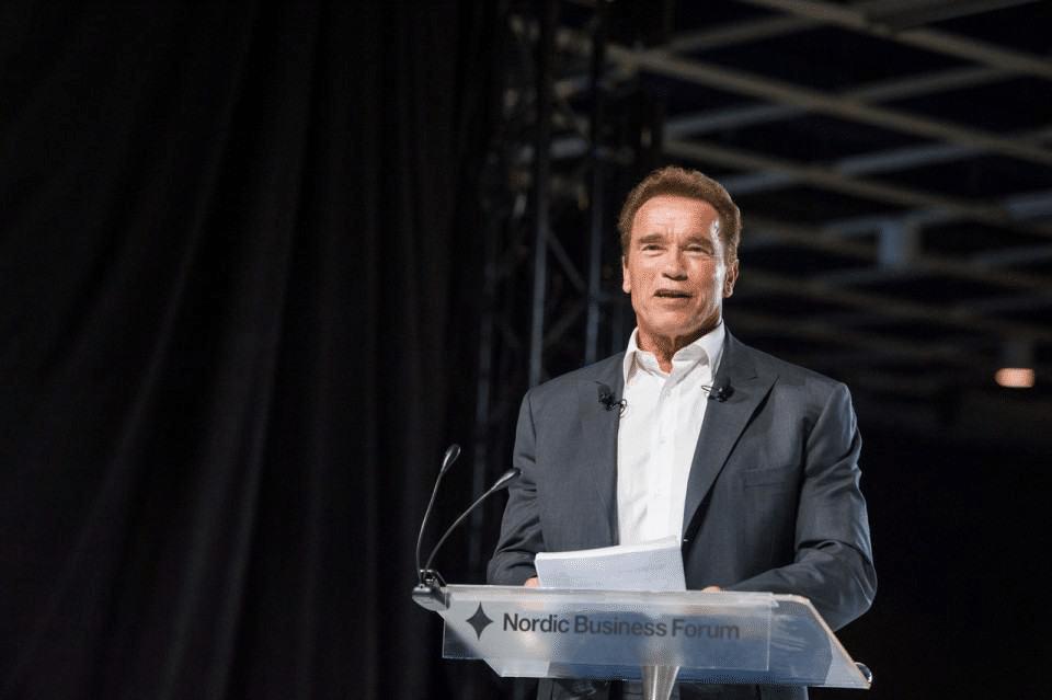 Arnold Schwarzenegger as a speaker in Nordic Business Forum