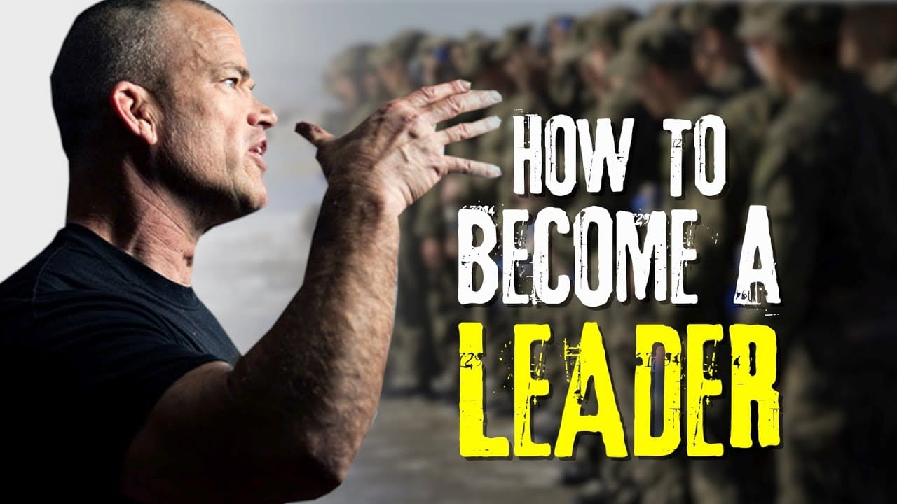 A man giving a speech about how to become a leader.
