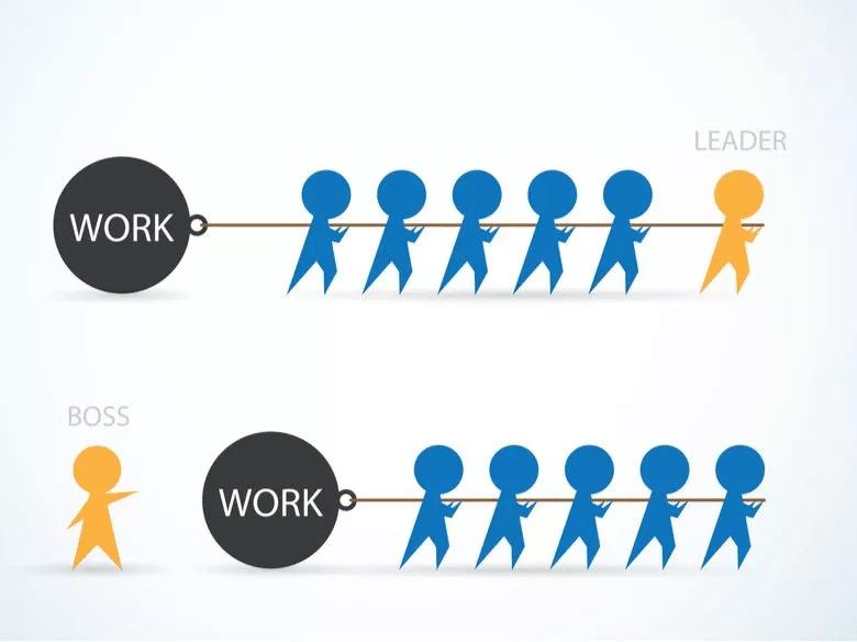illustration for leader vs boss