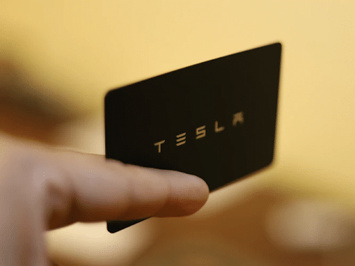 Black and White Tesla Rectangular Card