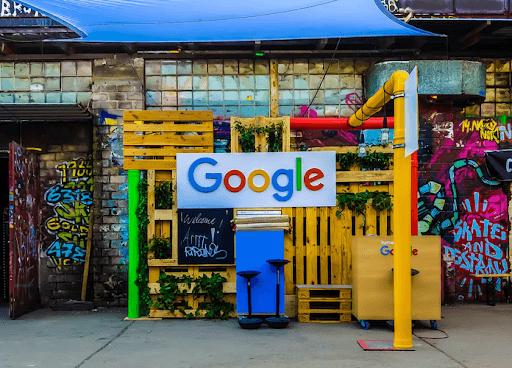 Google Logo Beside Building
