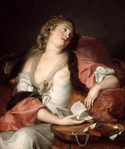 lady reading the letters of Eloise and Abelard
