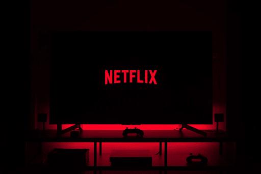 Black Screen Displaying Netflix Logo