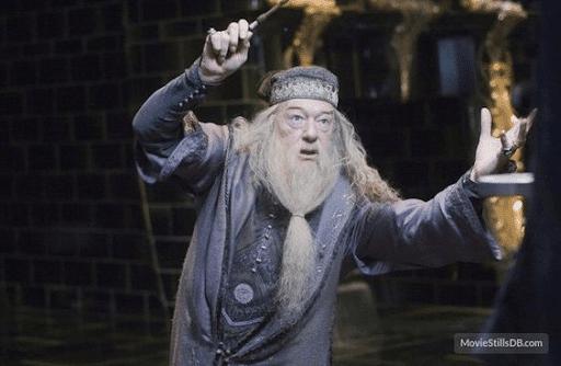 Publicity still of Michael Gambon as Dumbledore
