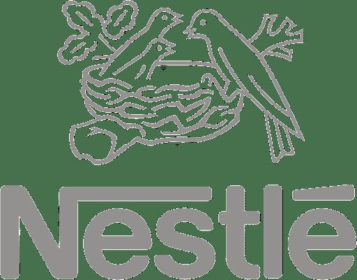 Black and White Nestle Logo