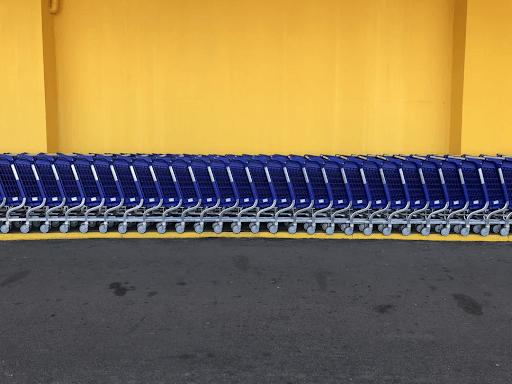 Walmart Grocery carts