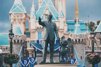 Walt Disney And Mouse Statue