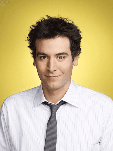 Ted Mosby smiling with yellow background