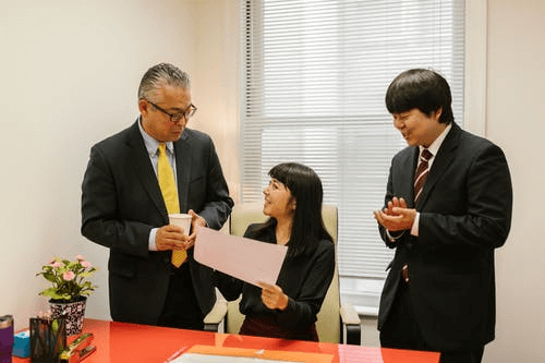 Business People Inside an Office