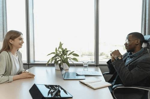 Woman Having a Job Interview