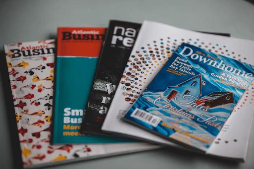 Photo of five different brochures