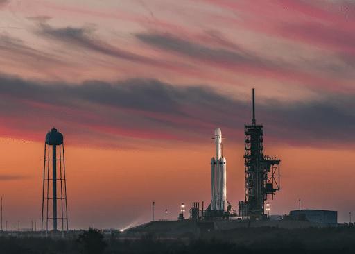 White SpaceX Rocket